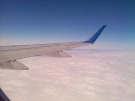 Always blue skies above the clouds